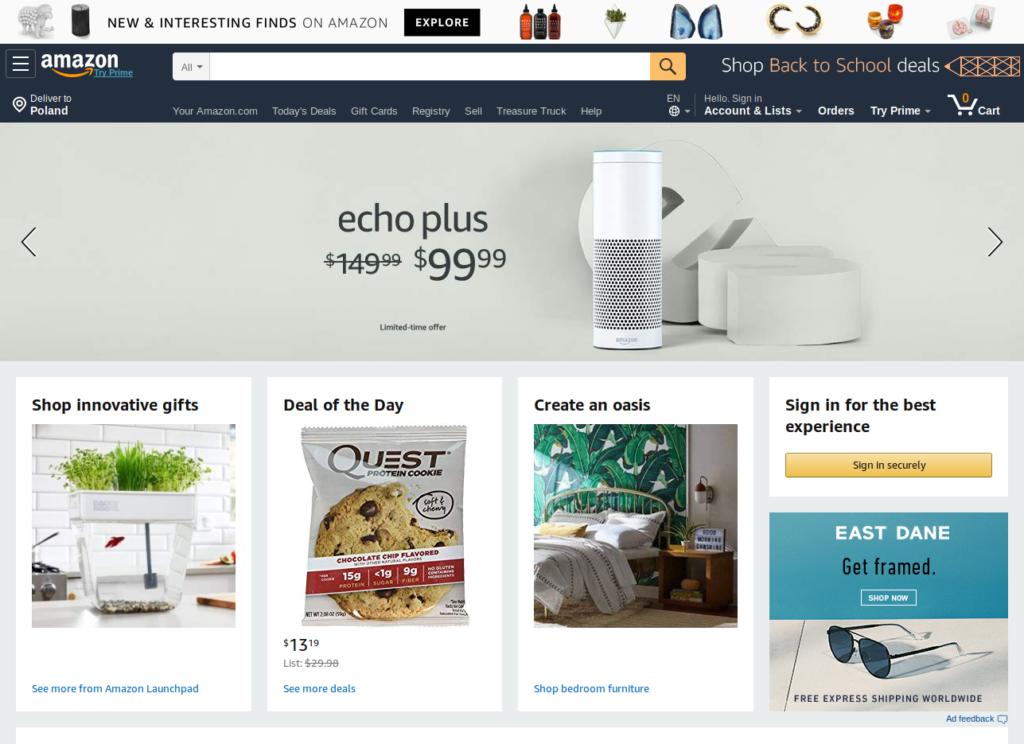 Sklep internetowy Amazon.com